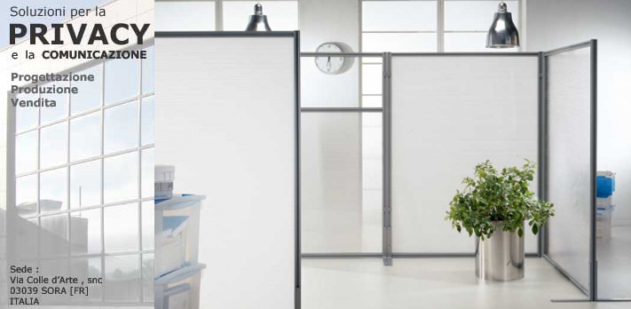 Categorie prodotti pannelli divisori pareti mobili for Pareti divisorie ufficio economiche
